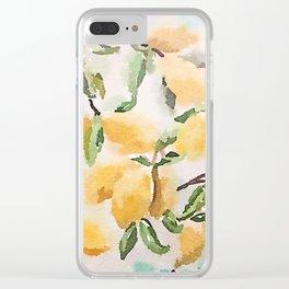 Watercolor Lemons Clear iPhone Case