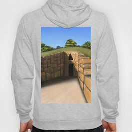The Exterior Of An Ancient Greek Tomb Hoody