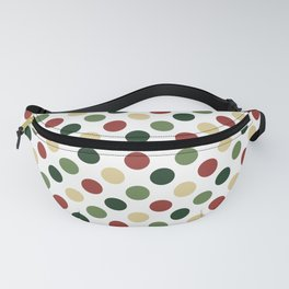 Polka dots - christmas colors Fanny Pack