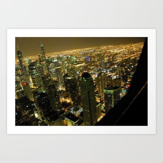 Chicago City Lights  Art Print