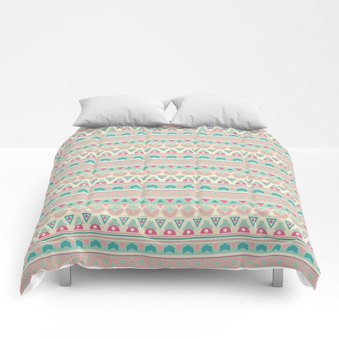 Ethnic , ornament , tribal , pastel Comforters