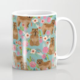 Chow Chow dog breed pet art dog floral pattern gifts for dog lover pet friendly Coffee Mug