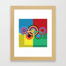 Olympic celebration 2 Framed Art Print
