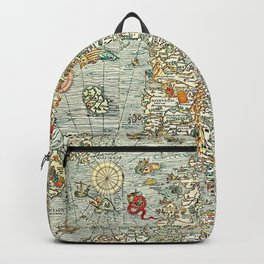 Ancient map Backpack