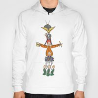 fandom Hoodies featuring The Fandom Totem Pole by Tricksterbelle Productions
