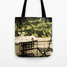 Dining Sparrows Tote Bag