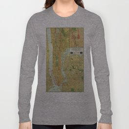Vintage Map of New York City (1918) Long Sleeve T-shirt