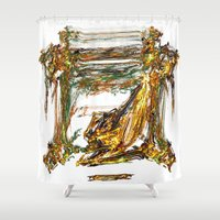 baroque Shower Curtains featuring Baroque Angeldust by Benedikt Amrhein
