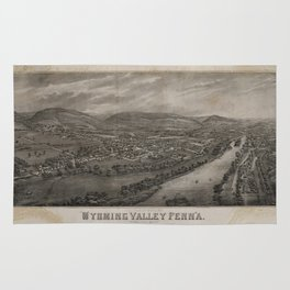 Village of Wyoming, Wyoming Valley Penn'a: scene of the massacre of July 3rd 1778 Rug