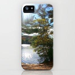 Quiet Lake in Autumn iPhone Case
