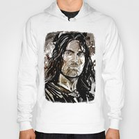aragorn Hoodies featuring Aragorn by Patrick Scullin
