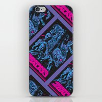 guardians of the galaxy iPhone & iPod Skins featuring Guardians of the Galaxy NEON by Messypandas