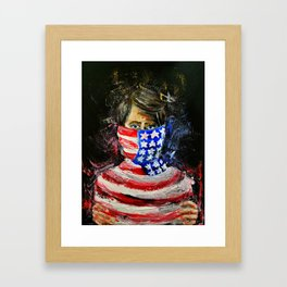 Choked by our freedom Framed Art Print