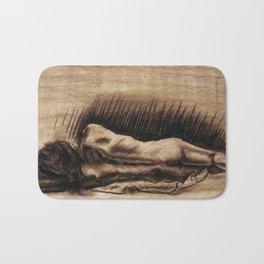 Portrait Of A Back Bath Mat