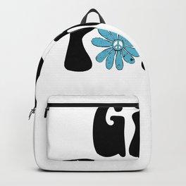 Girl Power Hippie Flower Peace Sign Backpack