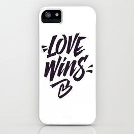 Love Wins Brush Lettering iPhone Case