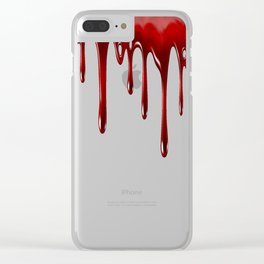 Blood Dripping White Clear iPhone Case