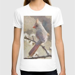 Abstract Colorful Wild Bird Cardinal Painting T-shirt