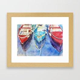 Boats of Italy Framed Art Print