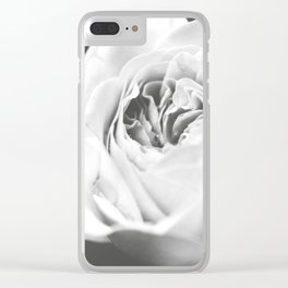 Light Grey Rose #1 #floral #art #society6 Clear iPhone Case