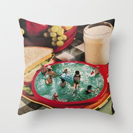 Soup and Sandwiches Throw Pillow