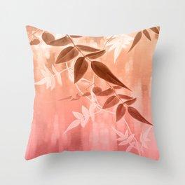 Warm Jasmine Sunrise Throw Pillow