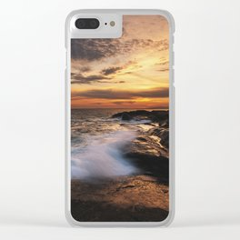 Twilight Surf Clear iPhone Case
