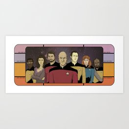 Star Trek: The Next Generation Crew Art Print