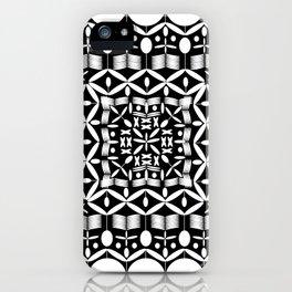 Mandala Square Black & White iPhone Case