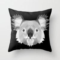 koala Throw Pillows featuring Koala by Taranta Babu