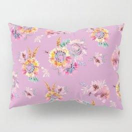 Meadow Flowers on Pastel Purple Pillow Sham