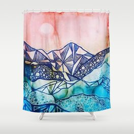 Textured Dreamscape Shower Curtain