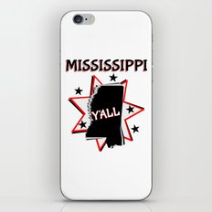 Mississippi State Pride Y'all iPhone & iPod Skin