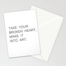 take your broken heart Stationery Cards