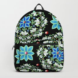 Folkloric Lily Medallion Backpack