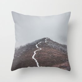 Clear path - Landscape and Nature Photography Throw Pillow