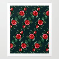 floral pattern Art Prints featuring Floral Pattern by Heart of Hearts Designs