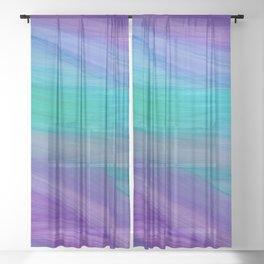 Mermaid Ocean Waves Sheer Curtain