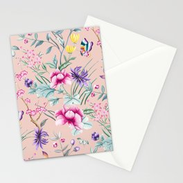 Floral Chinoiserie - Pale Dogwood Stationery Cards