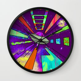 Space Cruising Recolored Wall Clock