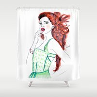 clover Shower Curtains featuring Clover by Christie  Elise