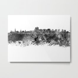 Ottawa skyline in black watercolor Metal Print