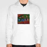 megaman Hoodies featuring Megaman Woodman by likelikes