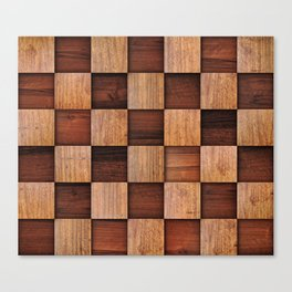 Wooden squares Canvas Print