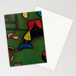 "Paul Klee ""Pflanze und Fenster Stilleben (Still life with Plant and Window)"" Stationery Cards"