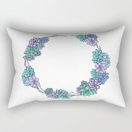 Succulent Wreath Rectangular Pillow