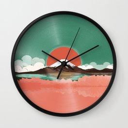 Japanese Landscape Vinyl Style Wall Clock