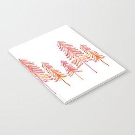 Pine Trees – Pink & Peach Ombré Notebook