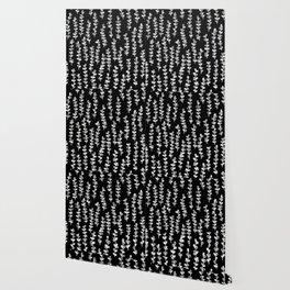 Vines on Black Wallpaper