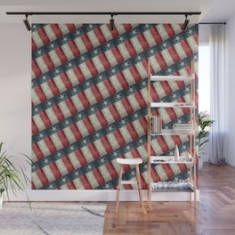 Vintage Texas flag pattern Wall Mural